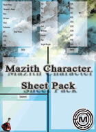 Mazith character sheet pack 1