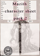 Mazith character sheet pack 2