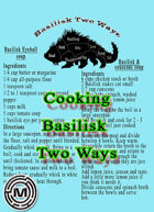 Cooking Basilisk two ways
