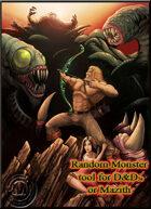 Random monster Generator  (D&D5e & Mazith)
