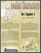 Avalon Characters Vol 1, Issue #4 Orc Number 1