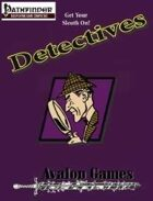 Detectives Investigation Sourcebook, Pathfinder Version