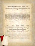 Eldritch Micro Mechanics: Potion Sizes