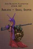 Character - Abrams, Snail Sniper - Stock Art