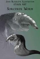 Monster - Sorcerer Worm- Stock Art