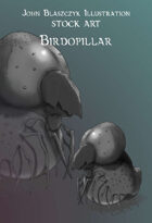 Monster - Birdopillar- Stock Art