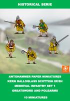 H-0001 - kern Galloglass Scottish Irish Set 1