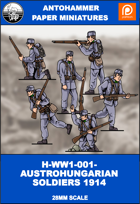 H-WW1-001-AUSTROHUNGARIANS SOLDIERS 1914