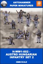H-WW1-002 - AUSTRO HUNGARIAN INFANTRY SET 2