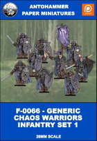 F-0066 - GENERIC CHAOS WARRIORS INFANTRY SET 1