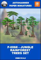 F-0068 - JUNGLE RAINFOREST TREES SET