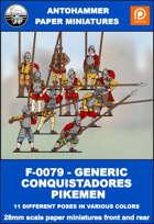 F-0079 - GENERIC CONQUISTADORES PIKEMEN