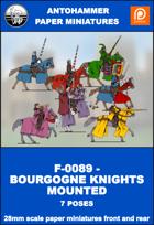F-0089 - BOURGOGNE KNIGHTS MOUNTED