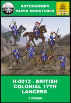 H-0012 -BRITISH COLONIAL 17TH LANCERS