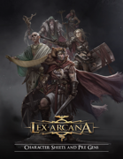 Lex Arcana RPG - Character Sheets and Pre-gens