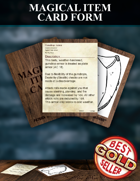 Magical Item Card Form