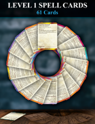 5e Level 1 Spell Cards