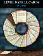 5e Level 9 Spell Cards