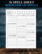 5e Spell Sheet Redesigned