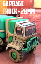 Garbage Truck: 3D Printable for 28mm Wargames