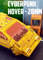 Cyberpunk Hover Car: 3D Printable for 28mm Wargames