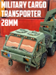 Military Cargo Transporter: 3D Printable for 28mm Wargames