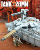 Tank: 3D Printable for 28mm Wargames