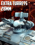 Extra Turrets: 3D Printable for 28mm Wargames