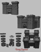 Medieval Scenery - Castle Gatehouse