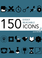 150+ Easily Readable Icons