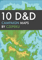 10 Stylized DnD Campaign Maps