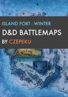 Island Fort - Winter Collection - DnD Battlemaps