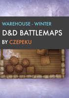 Warehouse - Winter Collection - DnD Battlemaps