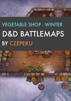 Vegetable Shop - Winter Collection - DnD Battlemaps