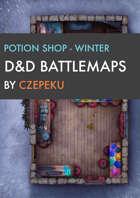 Potion Shop - Winter Collection - DnD Battlemaps