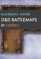 Blacksmith - Winter Collection - DnD Battlemaps