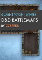 Guard Station - Winter Collection - DnD Battlemaps