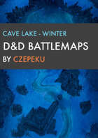 Cave Lake - Winter Collection - DnD Battlemaps