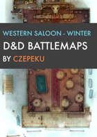 Western Saloon - Winter Collection - DnD Battlemaps