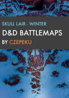 Skull Lair - Winter Collection - DnD Battlemaps