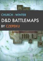 Church - Winter Collection - DnD Battlemaps
