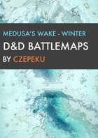 Medusas Wake - Winter Collection - DnD Battlemaps