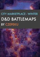 City Marketplace - Winter Collection - DnD Battlemaps