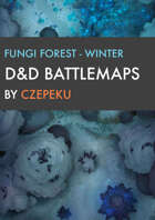 Fungi Forest - Winter Collection - DnD Battlemaps