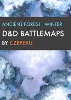 Magic Forest - Winter Collection - DnD Battlemaps