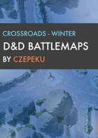 Crossroads - Winter Collection - DnD Battlemaps