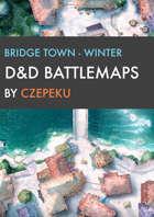 Bridge Town - Winter Collection - DnD Battlemaps