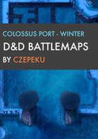 Colossus Port - Winter Collection - DnD Battlemaps