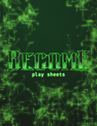 Become: Artificial Investigation play sheets