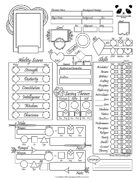 Pathfinder 2 Simplified Character Sheet